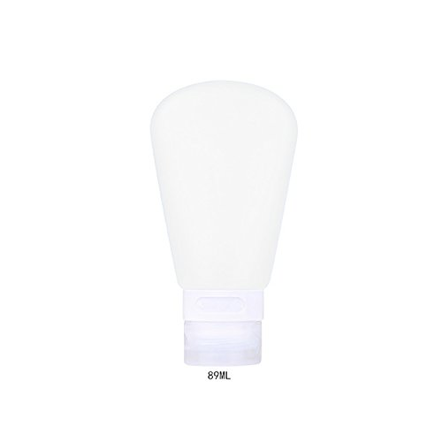 Rellenable botella de silicona portátil Kit de viaje loción champú baño contenedores blanco blanco 89ML