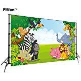 FT-6521 Fotohintergrund, Dschungel-Safari, für Kindergeburtstag, Foto-Requisiten, Banner für Neugeborene