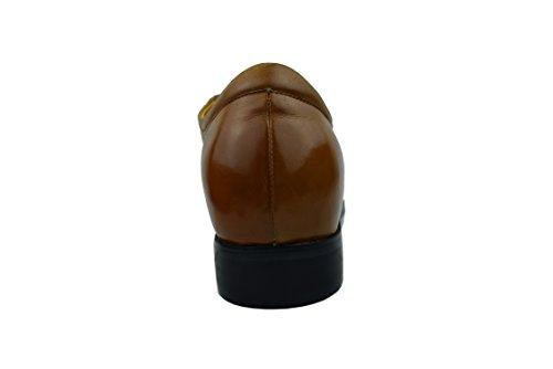 Zerimar Chaussures de Sport Rehaussantes Por Hommes Ajoutez + 7 CM à Votre Taille Fait de Cuir de Haute Qualité Tan
