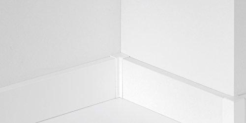 PARADOR 4er Set Innenecke Typ 2 SL 3/6/18 Weiss Laminatleiste Sockelleiste