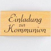 Stempel Einladung zur Kommunion, 60 x 30 mm