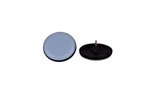 16 Stück Teflon-Möbelgleiter rund mit Nagel Ø 22 mm – 5 mm dick/PTFE-Beschichtung/Teflongleiter/Stuhlgleiter