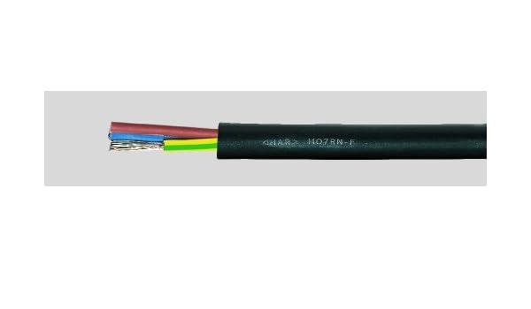 Gummikabel H07RN-F 4x2,5 qmm 1 m Lieferung in einer Länge
