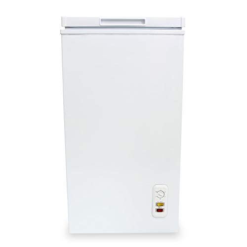 SIA CF60WH 43cm Freestanding 61L Chest Freezer In White, A+ Energy Rating