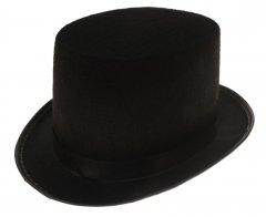 2 Zylinder mit Hutband in Schwarz, Deckelhut, Zylinderhut, Top Hat, Größe Unisex, als Kostüm, (Hat Schwarz Top)