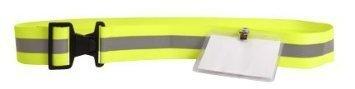 Reflex Safety Belt w/ID holder-neon Yellow by re-flex Safety