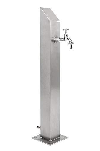 KTC Tec Wassersäule SQS 1030 mm Edelstahl V2A Bewässerung Zapfstelle Zapfsäule Gartenschlauch Spender -