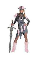 Disguise Costumes Barbarian Babe Unisex-Erwachsene, Grau/Pink, L ()