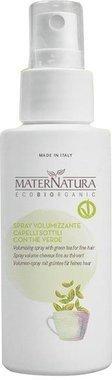 Maternatura - Spray Biologique Volumateur au Thé Vert - Renforce et repulpe la fibre capillaire, Donne plus de volume aux cheveux fins - Vegan. Fabrique in Italie