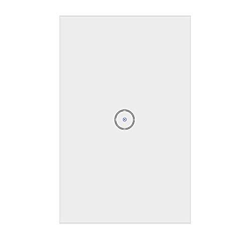 Applique da parete Jinvoo Smart Wi-Fi Touch US 1 pannello, Smart Timing Switch, telecomando con Smart Phone, compatibile con iOS e Android, funziona con Alexa Echo e Google Assistant