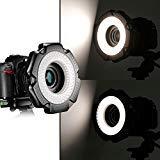 Neewer® R-160 160pz 5600K 10W Mini Anello Luce LED Macro con 6 Anelli Adattatori (49mm/52mm/55mm/58mm/62mm/67mm) per Obiettivi Macro Canon/Nikon/Sony/Sigma/Tamron