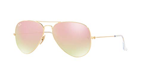 Ray-Ban Womens Sunglasses Gold/Pink Metal - Non-Polarized - 58mm