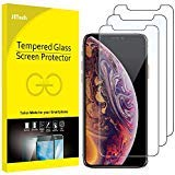 JETech Screen Protector for iPhone XS and iPhone X, Tempered Glass Film, 3-Pack