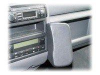 T4 Halterung (Waeco VWK060 Echtleder Telefonkonsole schwarz für VW T4 Caravelle/Multivan ab Bj. 1995)