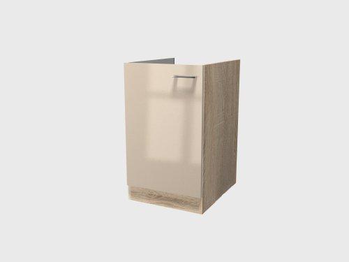 Flex-Well Exclusiv Spülenunterschrank Nepal 50 cm Kaschmir Glanz-Sonoma Eiche