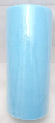 Genrico TUL_AZZ25 Bobina di Tulle Alta 25 Cm per 100 Metri, Celeste