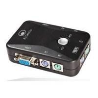 Atlantis Land KVM Switch PS2-Eingabegerät (PS/2, PS/2, VGA, 1600x 1280pixeles, filiaire) schwarz