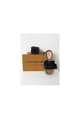 Silvian heach sandalo fiocco 100% pu, nero, 36
