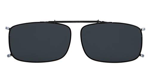 Eyekepper Metallrahmen Rand polarisierte Linse Clip auf Sonnenbrille (52 x 33 mm, grau)