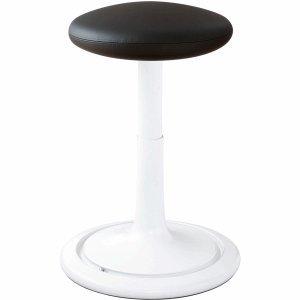 Ongo Sitz- und Stehhocker Classic Tall 55-77cm skai Kunstleder weiß/schwarz/weiß