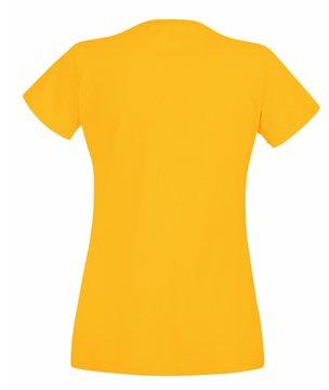 Fruit of the Loom - T-shirt - Femme Jaune - Tournesol