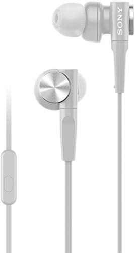 Sony MDR-XB55AP Premium in-Ear Extra Bass Headphones with Mic (Grayish White)