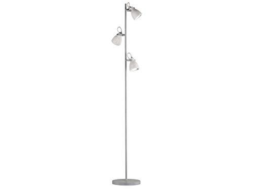 Lampadaire rétro avec abat-jours orientables en béton & GU10 LED - Lampe de lecture - Éclairage sur pied en style industriel