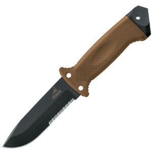 Gerber 1400LMF II ASEK, Tan Handle, Combo Edge, nailon sheath