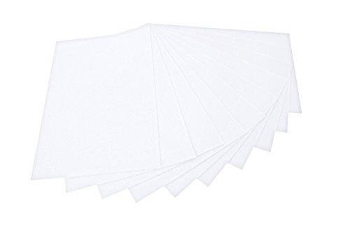 Preisvergleich Produktbild folia 520400 - Bastelfilz,  mit feiner Wollqualität,  10 Blatt,  150 g / qm,  20 x 30 cm,  weiß,  klebefleckenfreie Verarbeitung - ideal für vielfältige Bastelarbeiten