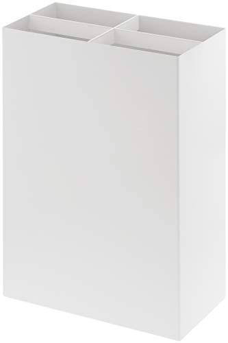 Yamazaki - portaombrelli in acciaio, misura l, colore: bianco