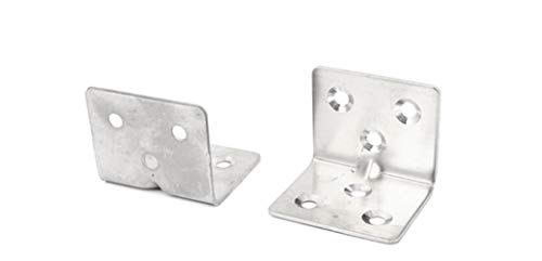 bulushi 100Möbel Regal 32x 32x 38mmstainless Stahl L Typ Winkel Klammern Ecke Hosenträger Unterstützt -