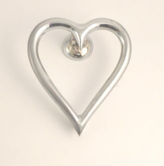Heart Door Knocker Chrome