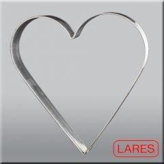 Ausstechform für Lebkuchen Riesen-Herz, Weißblech, 19cm