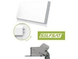 SelfSat Flachantenne H30D2 Twin Antenne HD-Ready inkl. Selfsat DiseqC Motor HH90
