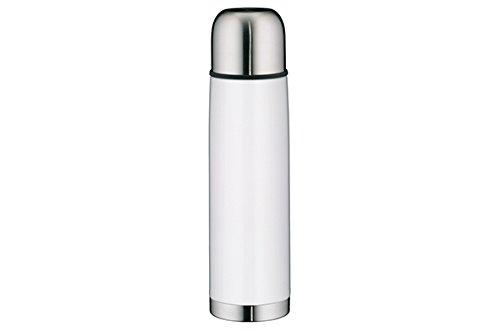 Alfi 5457.211.075 Isolierflasche IsoTherm Eco, Edelstahl (0,75 Liter), weiß