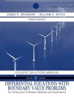Differential Equations: An Introduction to Modern Methods and Applications Student Solutions Manual