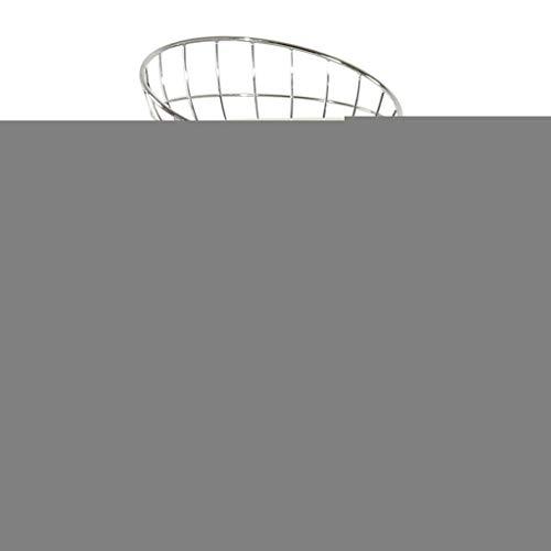 Barhocker Gepolsterter Hochhocker mit silberner Fußstütze und Rückenlehne, Moderne Pub-Küchentheke, runde Barhocker mit Kunstlederkissen, Sitzhöhe 65 cm - Metall Runde Pub Tabelle