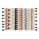 Lorena Canals 1703496031 - alfombra azteca natural terracota 120x160 cm