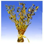 Gold Hearts Foil Spray Balloon Weight Centerpiece - Pack of 10
