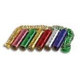 3 Rollen Luftschlangen holographic grün pink gold oder blau rot silber - sortierte Farben
