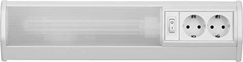 RABALUX Unterbauleuchte, Plastik, G23, 11 W, Weiß, 40cm (Mit Lampe Steckdose)