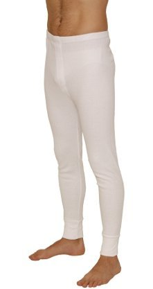 Lange Thermo-Unterhose für Herren, hält die Wärme aufrecht, ideal für Snowboarden, Skifahren, Klettern, in Weiß oder Grau, weiß, M