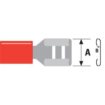 Ex-Pro ® 100x Red Female Disconnect Crimp connettori per cablaggi elettrici (Cablaggi Elettrici Connettore)