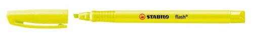STABILO flash gelb, 10er Faltschachtel - Textmarker