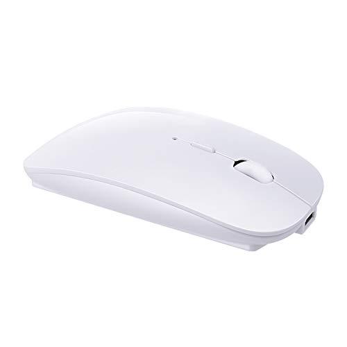 Szyee Bluetooth Maus Drahtlose Maus Bewege Die Maus Optische Maus Laden Sie Die Maus Geeignet Für PC Computer Laptop Android Tablet Intelligentes Gerät(Helles weiß) -