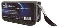 MediaRange astuccio borsa porta FlashDrive Wallet per 10 USB Flash Drives e 5 schede di memoria SD