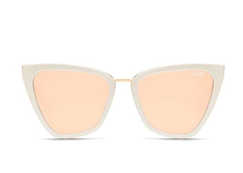 Quay Australia X JLO Damen Reina Oversized Cat Eye Sonnenbrille, (pearl), Einheitsgröße