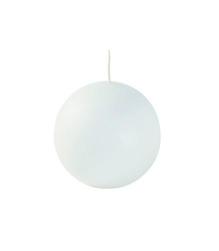 Velas bola, cera, blanco, 10x 10x 10cm, 4Unidad