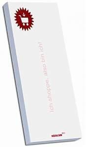 """Magnetische Notizblöcke - Nachfüllset """"Shopping"""": Diese dekorativen Notizblöcke haften dank ihrer magnetischen Rückseite auf jeder Metalloberfläche. Ein Nachfüllset enthält 10 Notizblöcke"""
