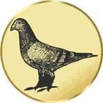 S.B.J - Sportland Pokal/Medaille Emblem, Motiv Taube, Durchmesser 50 mm, gold